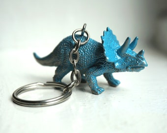 Dino Keychain Blue / Gold - Factory On The Moon