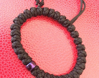 Super Sturdy Eastern 33 Knot Orthodox Prayer Rope With Titanium Blue/Purple Glass Bead