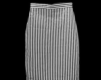 Eco Friendly Black and White Stripe Skirt
