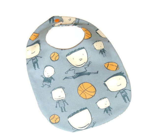 Sports Bib - March Madness - Gift for Baby Boy - Baby Boy Gift Under 10
