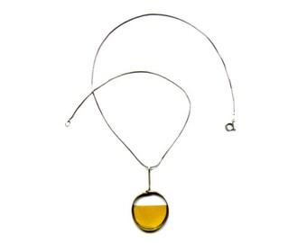 Circle Plunge Half Disc Necklace