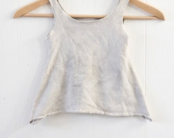 Naíonán Tunic  -  Hemp -  Organic Cotton - Herbal Dye -  Newborn Baby - Natural Clothing - Juniperous