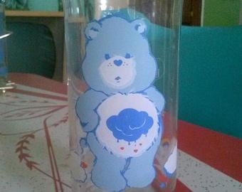 Vintage Grumpy Bear Care Bears glass Pizza Hut promo item 1983