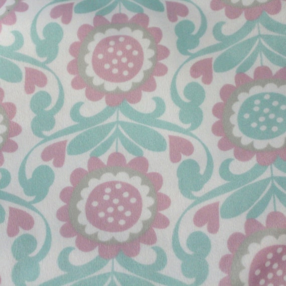 Pastel Minky Fabric/Pastel Cuddle Fabric/Mink Cuddle Fabric/Soft Cuddle Fabric/Soft Minky Fabric/Soft Blanket Fabric/Flower Fabric/Pastels