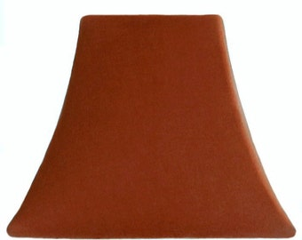 Rust Slip Cover for your existing lampshade - stretches to fit perfectly