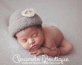 High Brim Felted Newborn Hat-Vintage Inspired Felted Baby Girl Hat-Newborn Photo Props-Baby Girl Organic Props-Organic Felted Hat Photo Prop