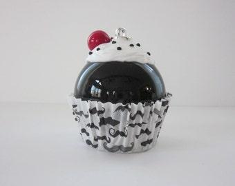 Christmas Ornament / Cupcake Ornament / Mustache Ornament