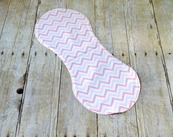 Flannel Burp Cloth - Pink Chevron- Baby Girl - Baby Girl Gift - Baby Shower - Layette