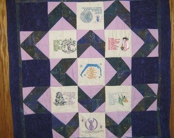 Charge of the Goddess - lap quilt, wall hanging, wicca, goddess, pagan