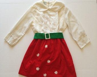 1960's Velvet Skirt Holiday Dress