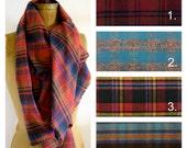 Custom Plaid Blanket Scarf Wrap Thick Soft Brushed 100% Cotton Fringed Edges