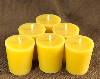 100% Pure Beeswax Votive Candles (set of 6)