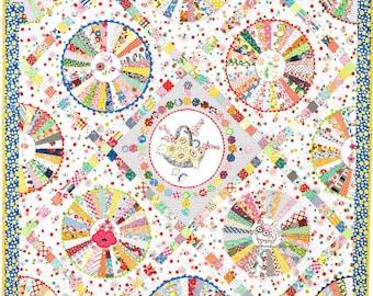 PDF pattern of 30s Wheel quilt