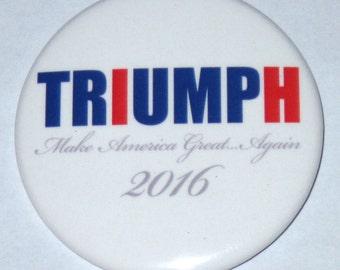 Donald Trump 2.5-Inch Novelty Triumph Campaign Button