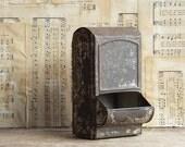 Vintage Wall Match Box Holder, Primitive, Rusty Farmhouse Decor
