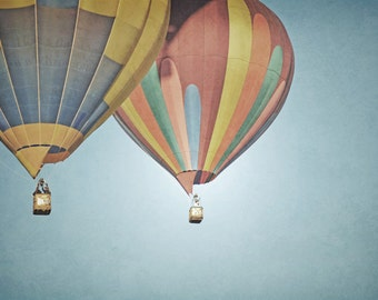 Hot Air Balloons Photography Print 12x18 Fine Art New Mexico Whimsical Balloons Sky Landscape Photography Print.