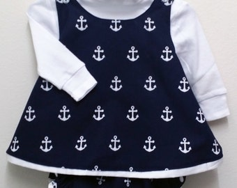 Baby Toddler Bubble Suit Romper -  Anchors Away! - 24 Months