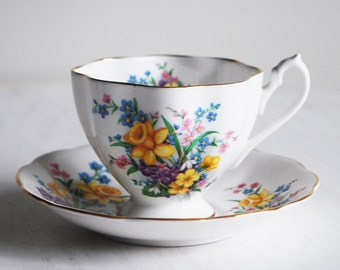 Queen Anne Spring Song Teacup and Saucer