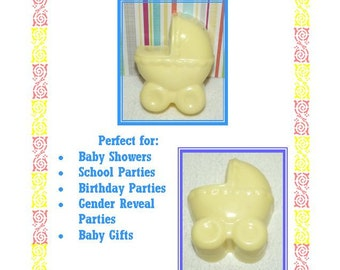 20 Baby Shower Soap Favors, Baby Carriage Soap Favors, Gender Reveal Shower Favors, Welcome Baby Favors