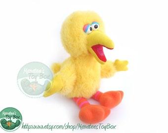 80s Big Bird plush: Vintage Sesame Street by Playskool