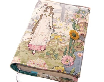 Book Cover, Bible Cover, UK Seller, Hardback or Paperback, Art Nouveau Butterfly Maiden, Romantic Fairy Tale Book Cover,