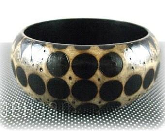 Spots Wooden Bangle Bracelet