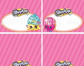 NEW - Shopkins Food Tent Cards, Place Cards, Set of 12, Choose your Shopkins