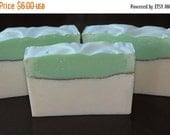 35% OFF FLASH SALE Rosemary Mint Scented Luxury Cold Process Rustic Soap with Shea Butter - Palm Free