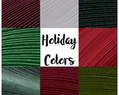 "Holiday Color 8 Pack - Culture Pop Premium Solid Color Quilling Paper Strips. 17"" Long."