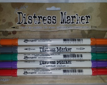 NEW Tim Holtz Distress Markers Set of 5