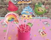 Shopkins Birthday party Decorations Centerpiece