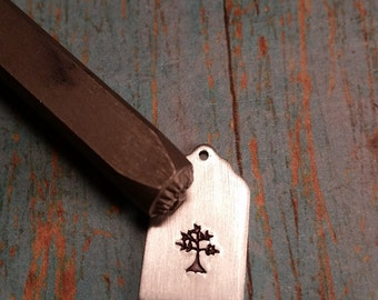 Tree of Life, Leafy Tree, Branch, Leaf, Nature, Metal Decorative Stamped Tools & Supplies, w/ Alphabet Punch Sets, Metalworking, DIY Jewelry