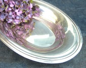 Vintage Silverplate Bread Tray Bowl, Restaurant Ware Silver Plate Serving Piece, Oval Dish, Simple Sleek
