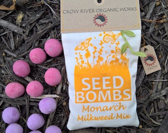 Milkweed Seed Bombs for Monarch Butterflies