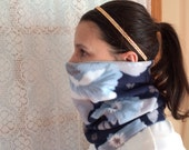 Soft blues Running Scarf, cowl, gator, Ski Mask, snood, tube scarf