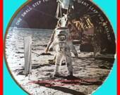 Vintage 1969 Texas Ware  NASA Apollo Moon Walk One Small Step Commemorative Plate