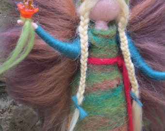 Autumn bliss - Felted angel - needle felted and waldorf inspried