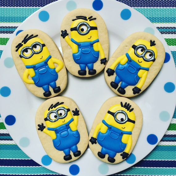 how to make minion sugar cookies