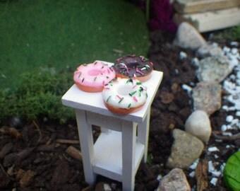 Three Yummy Donuts For Fairy Garden or Dollhouse Miniature Food Enjoyment