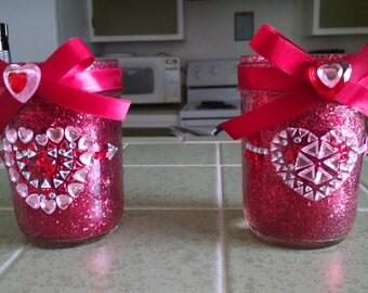 2-Handmade Valentine's Day candle holder