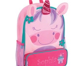 Personalized Unicorn Backpack [back to school, backpack, book bag, princess, unicorn, girl, sparkle, colorful, embroidered] - E000266