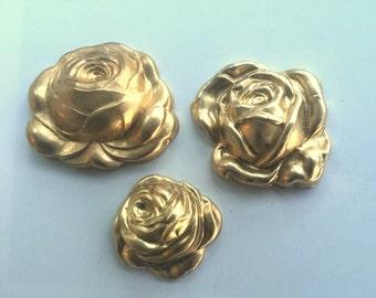 Three Roses in Three Sizes  (3 pc)
