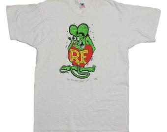 Big Daddy Roth 1991 Rat Fink Cartoon t Shirt 1990s Vintage comic art tee