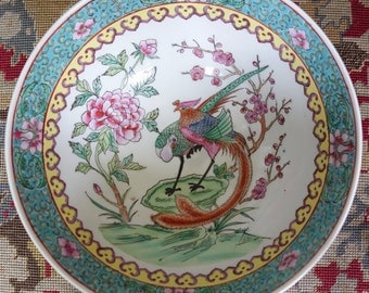 Vintage hand painted Chinese bowl fruit bowl home decor antique bowl