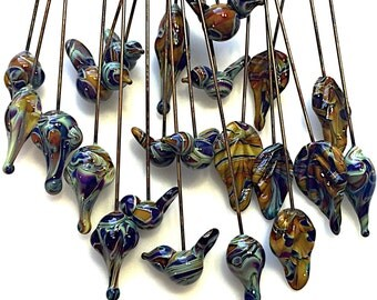 Twisted Color Headpins by Thornburg Bead Studio - artisan made - made to order