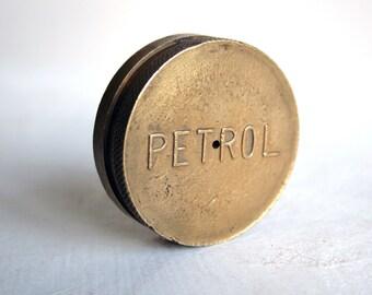 vintage solid brass petrol cap