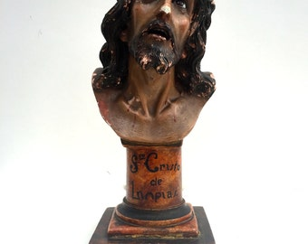 Vintage religious statuary / bust of Christ