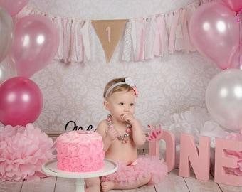 Birthday Banner - Custom Birthday Banner - cake smash prop - cake smash banner - 1st Birthday Banner - second birthday - third birthday