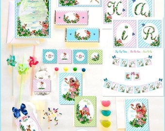 FAIRY PARTY COLLECTION ~ Blue - Printable Instant Download
