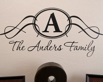 Custom Family Crest - Vinyl Wall Decal